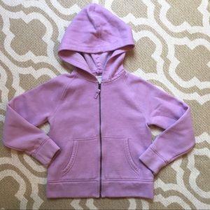 Crewcuts girls lavender zip hoodie size 8